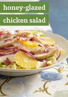 Honey-Glazed Chicken Salad -- Sweet and savory are at it again in this awesome chicken salad recipe. It's made with smoky bacon, sweet honey and refreshing citrus slices.