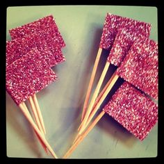 glitter flags for cupcakes