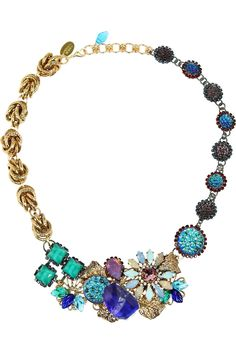 Erickson Beamon|Garden Party gold-plated Swarovski crystal necklace|NET-A-PORTER.COM