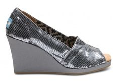 Toms wedges Pewter