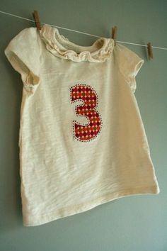 birthday number shirt tutorial