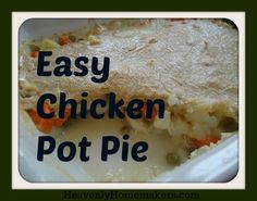 FAQs of Easy Chicken Pot Pie… Question: What do you get when you mix one cup of milk, one cup of mayonnaise, and one cup of whole wheat flour? Answer: The most amazingly delicious crust you can imagine. Question: What is the easiest way to make a crust for a Chicken Pot Pie? Answer: You …
