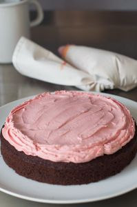 Fresh Raspberry Buttercream Recipe from Miette Bakery Cookbook