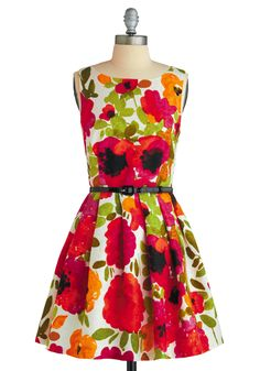 Classic floral print frock