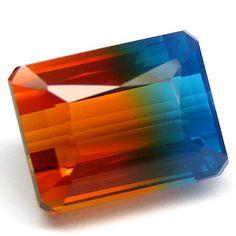 Bi-color Golden and Blue Quartz; Big 29.10 carat