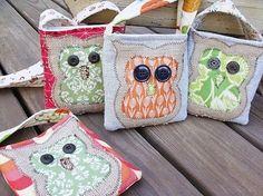 Owl Burlap Bag
