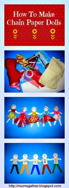 Fun DIY You Can Do With Kids To Decorate Their Rooms.- How To Make Chain Paper Dolls