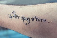 """once upon a time..."" lettering/font."