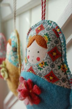 Babushka fabric dolls