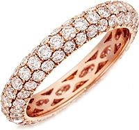Henri Daussi Domed 3-Row Pink Diamond Pave Band..love this