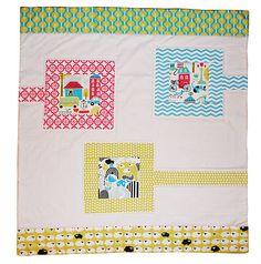 Baby quilt from Taali, Monaluna bio cotton fabrics