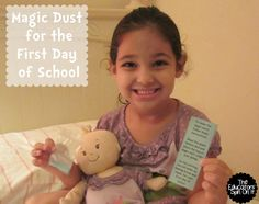 The Educators' Spin On It: First Day of School Magic Dust.  Are you preparing for your child's first day of school?  Here's a fun way to talk about the feelings we have as we get ready and book recommendations #PapermateBTS