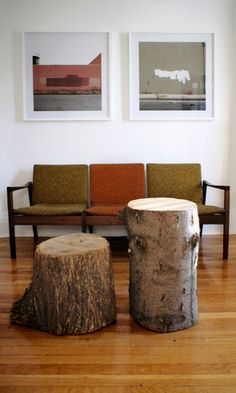 its you and me as tree stump coffee tables