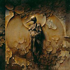 "John Jude Palencar, Bird Shrine (2006). An aged ""Loplop"" sacralized by a neo-pre-Raphaelite brush."