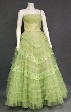 prom dress  1950s  vintageous