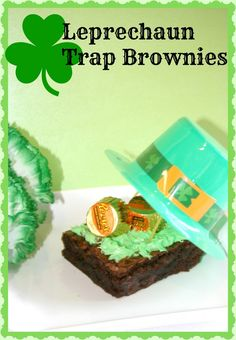 Leprechaun Trap Brownies #StPatricksDay #Leprechaun
