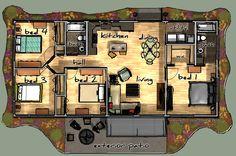 barndominium floor plans | Mark Hovis Designs » MHD-1224-RH MODERN » Mark Hovis Designs