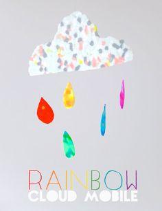 How To: Rainbow Cloud Mobile with Hama beads