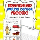 Who doesn't love firefighters? Your students will love to write about what firefighters do, or about their imaginary day as a firefighter with this... classroom, word wall, fire safeti, school, octob, firefighters, writing centers, freebi, kindergarten