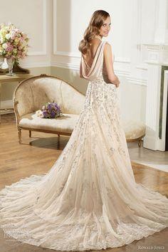 ronald joyce 2013 bridal light gold wedding dress
