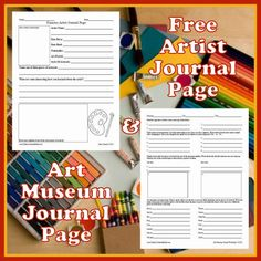 #Free #art museum and #artist journal pages