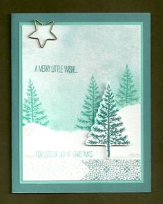 Festival of Trees on Watercolor Paper by djolet - Cards and Paper Crafts at Splitcoaststampers