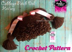 Cabbage Patch Hat/Wig Crochet Pattern