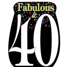 40th Birthday Standee