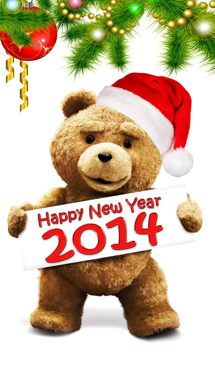 holiday, iphon wallpap, year2014, movi poster, happi, funni, year 2014, new years, ted
