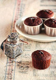 Lavender:  Chocolate #lavender cupcakes.