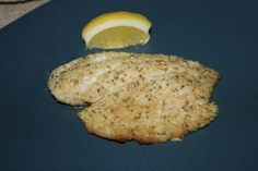 Baked Parmesan tilapia - pretty easy, 12 minutes in the oven