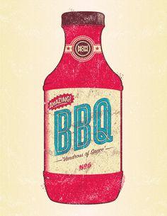 bbq bottle print