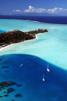 Swim in every shade of blue. Bora Bora