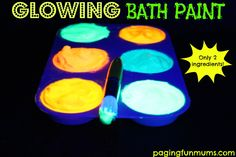 GLOWING Bath Paint!