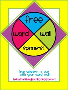 Word Wall Spinner Freebie!