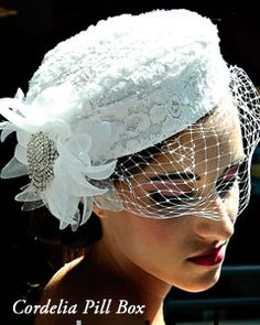 Loved the pill box hat I had at my wedding :)
