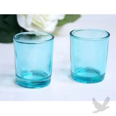 Votive Candle Holders - Turquoise Blue