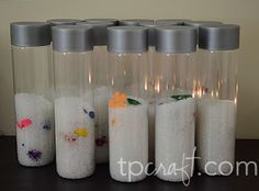 I Spy Party {Make Your Own I Spy Bottle} @Kristol Caldwell Could be cute for vbs craft.