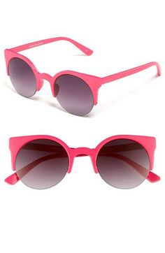 retro sunglasses in pink // quay at nordstrom