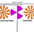 FREE Nonsense or Real Word spinners