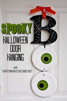 BOO Halloween Door Hanging!  Who says you need a wreath?  #spookyspaces #spon #halloween