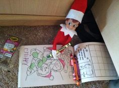 Ideas for your Elf on the Shelf - love it!