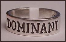 Engraved Dominant Ring collar, domin ring