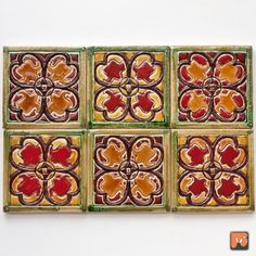 Kolorowe dekory - włoski wzór (proj. Dekory Nati)