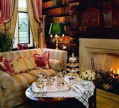 decor, cozi, tea parti, tea time, teas, librari, afternoon tea, mileston hotel, room
