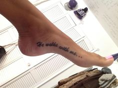 He walks with me... #tattoos