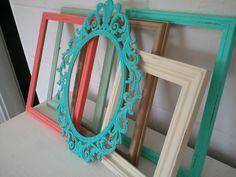 Set of 6 Vintage Refurbished Frames by ToneyVintage on Etsy