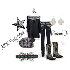 """Rocking Western Cowgirl"" by thetexascowgirl on Polyvore National Finals Rodeo Outfit NFR"