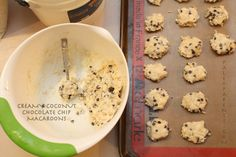 Creamy Coconut Chocolate Chip Macaroons