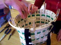 New England Basket  -  #14 (Adding the top with the handles)